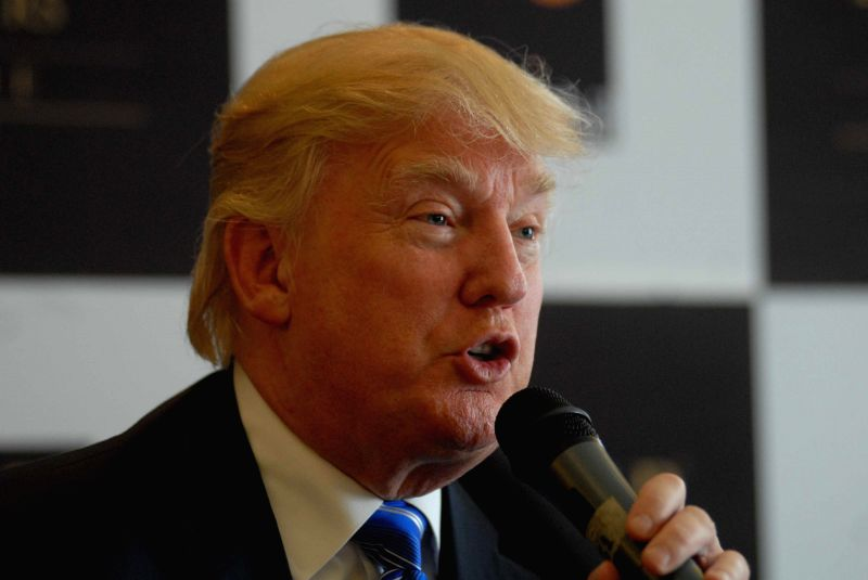 American Businessman Donald J Trump during a press conference regarding `Trump Tower` in Pune on Aug 13, 2014.