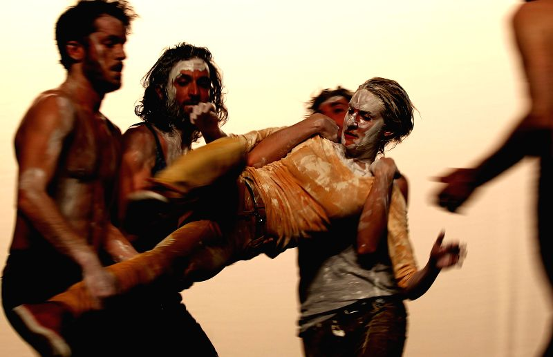Dancers of Philippe Saire from Switzerland perform Transfigured Night during the Amman Contemporary Dance Festival (ACDF) in Amman, Jordan, April 25, 2014.