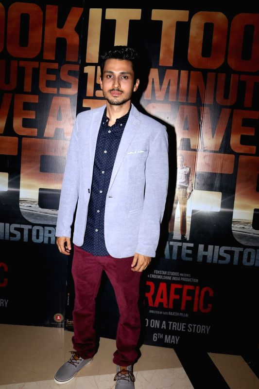 Amol Parashar during the screening of film Traffic in Mumbai on May 5, 2016.