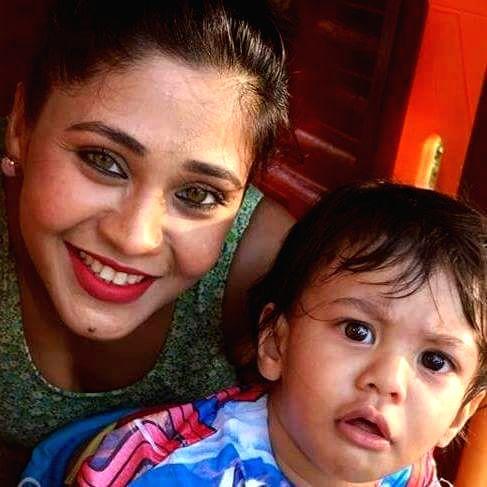 Amrapali Gupta with son - Amrapali Gupta