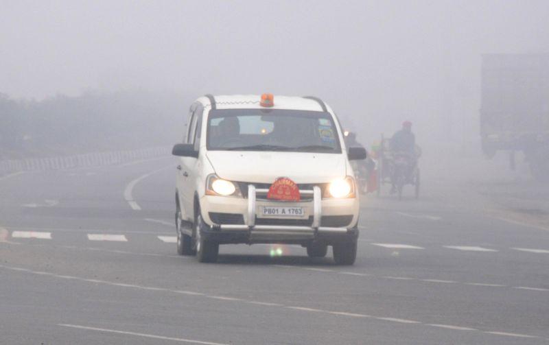 A blanket of dense fog covers Amritsar on Jan 8, 2015.