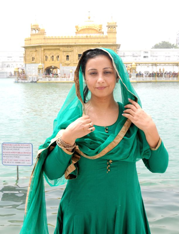 Actress Divya Dutta pays obeisance at the Golden Temple in Amritsar, on April 19, 2015.