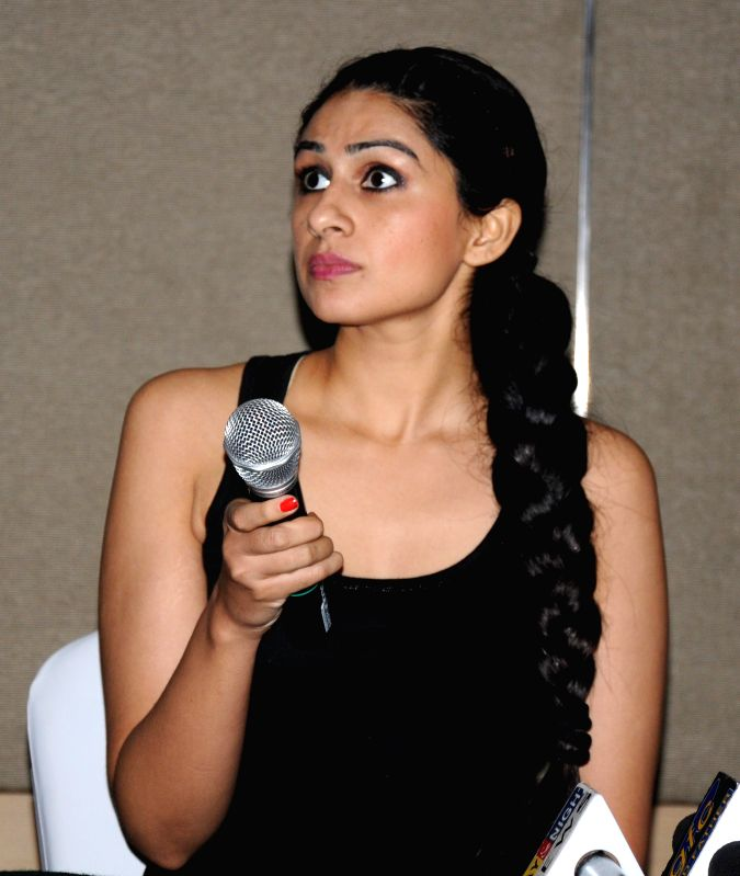 Actress Sonel Singh during a press conference of their ongoing serial `Everest` on Star Plus in Amritsar on Nov. 27, 2014. - Sonel Singh