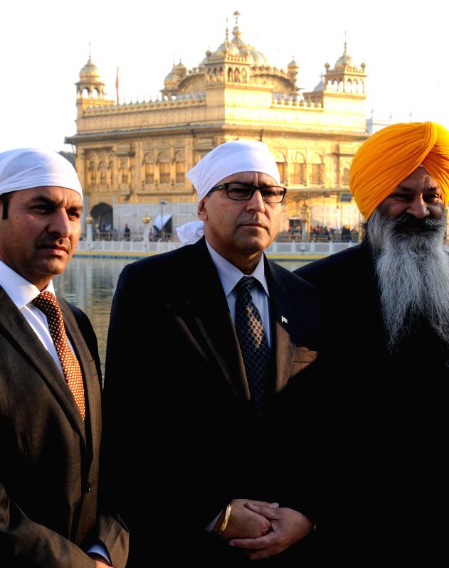Canadian MP (for Calgary Northeast) Devinder Shory pays obeisance at the Golden Temple in Amritsar, on Jan 16, 2015.