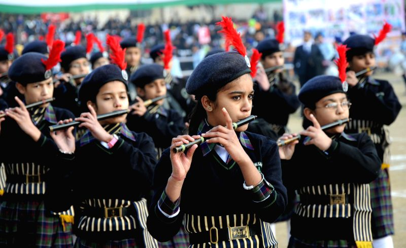 Children participate in Republic Day celebrations in Amritsar on Jan 26, 2015.