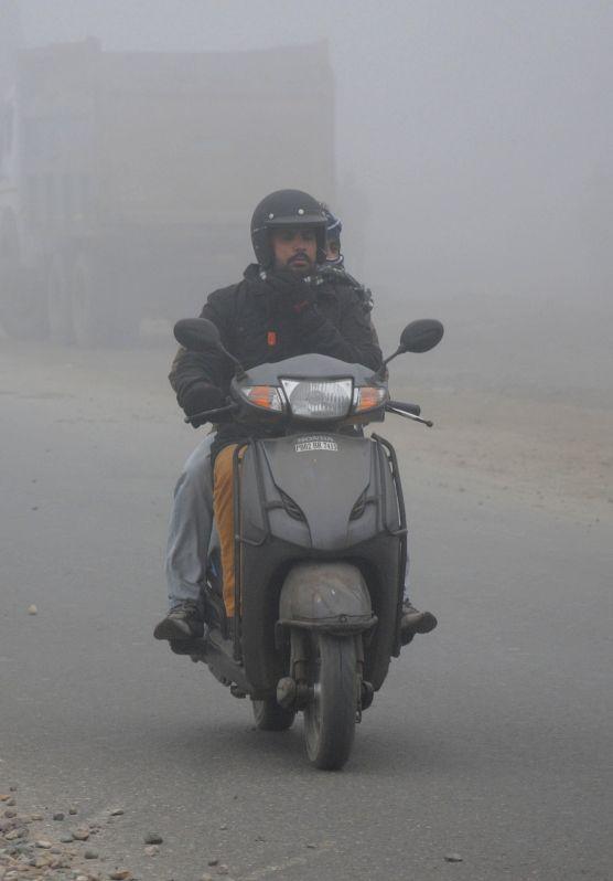 Dense fog cover over Amritsar on Jan 3, 2015.
