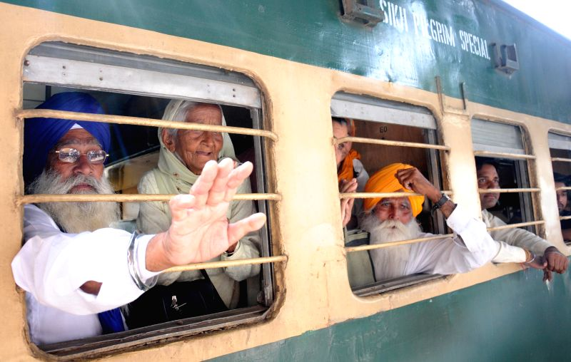 Nearly two thousand Sikh Jatha from various Sikh groups including SGPC and DSGMC board a special trains to Pakistan via Attari rail and land border to celebrate `Baisakhi` festival to pay ...