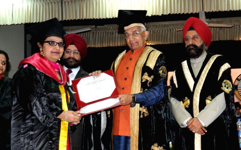 Punjab and Haryana Governor Kaptan Singh Solanki during the 41st Annual Convocation of the Guru Nanak Dev University at Amritsar on March 11, 2015.