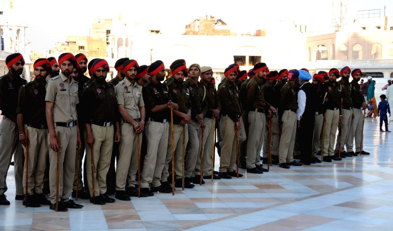 Security beefed-up outside the Golden Temple in Amritsar on March 21, 2015. Prime Minister Narendra Modi is scheduled to visit the city on March 23. - Narendra Modi