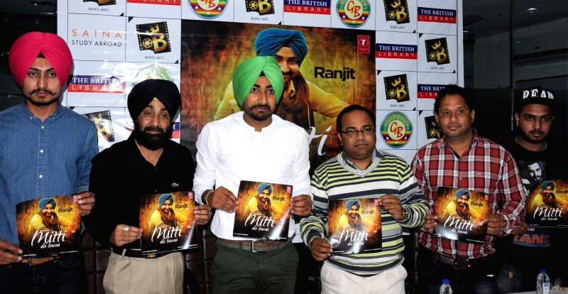 Singer Ranjit Bawa during the promotion of his latest album `Mitti Da Bawa` in Amritsar, on March 7, 2015.
