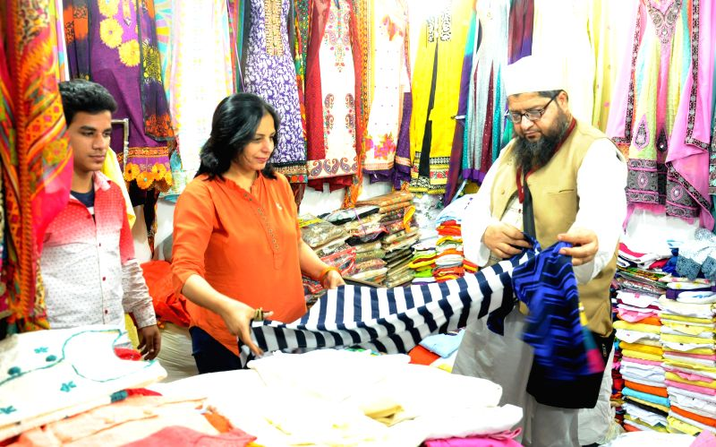 Visitors at Pakistan stall set-up at Punjab International Trade Expo 2014 in Amritsar on Dec 5, 2014.