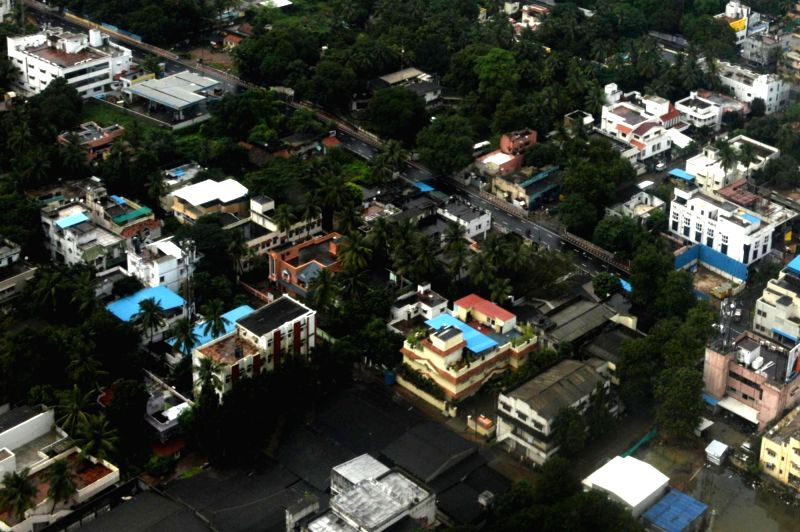 An aerial view of flood affected Chennai on Dec 7, 2015.