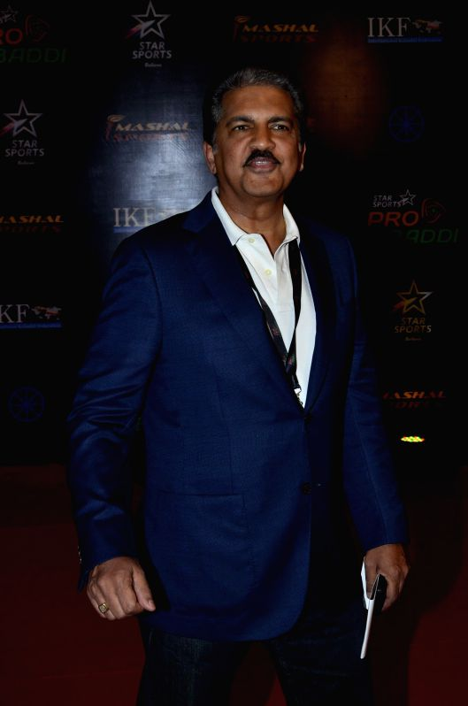 Anand Mahindra, Chairman, Mahindra Group during the semi finals of Pro Kabaddi League (PKL) match between Jaipur Pink Panthers and Patna Pirates in Mumbai on Aug 29, 2014.