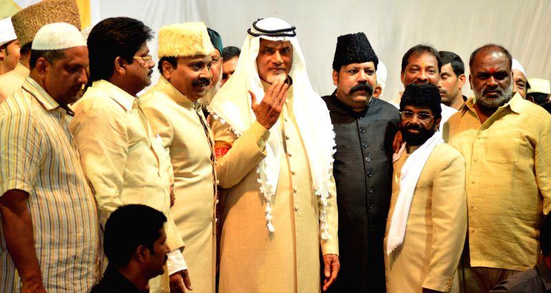 Andhra Pradesh Chief Minister N. Chandrababu Naidu during an Iftar Party in Hyderabad on July 21, 2014. - N. Chandrababu Naidu