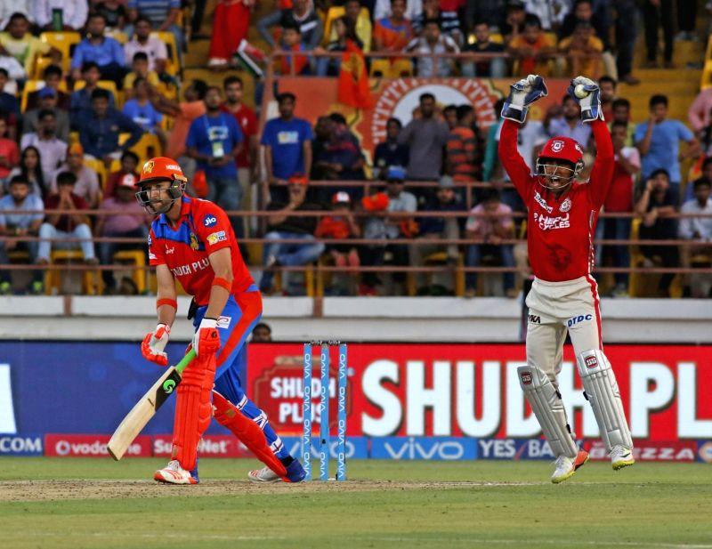 Andrew Tye of Gujarat Lions in action during an IPL 2017 match between Gujarat Lions and Kings XI Punjab at Saurashtra Cricket Association Stadium in Rajkot on April 23, 2017.