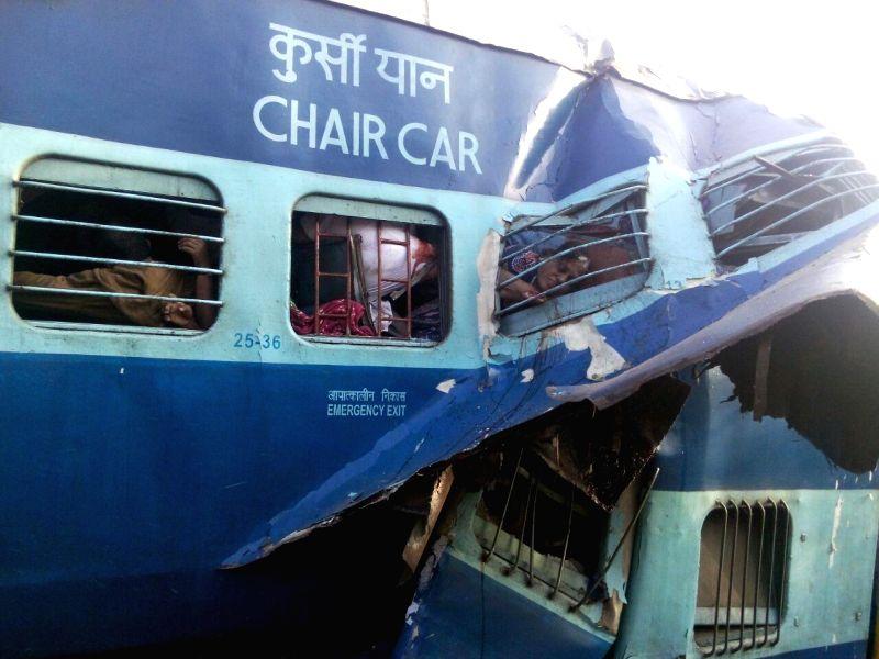 A derailed bogey of the Bengaluru-Erankulam inter-city express between Anekal station (near Bengaluru) and Hosur (in Tamil Nadu) on Feb 13, 2015. Twelve passengers died and 30 were injured in