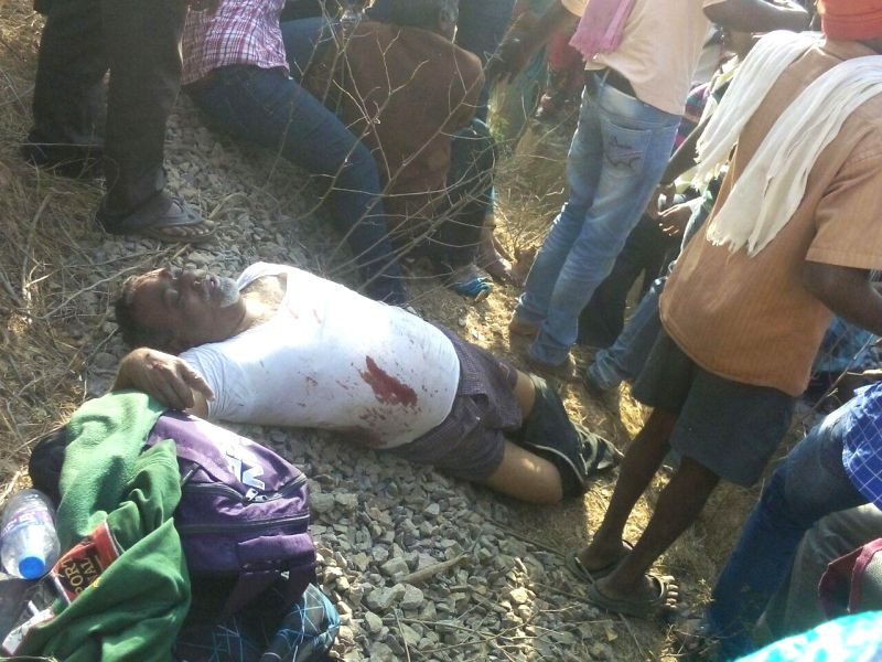 An injured passenger of Bengaluru-Erankulam inter-city express that derailed between Anekal station (near Bengaluru) and Hosur (in Tamil Nadu) on Feb 13, 2015. Twelve passengers died and 30 ..