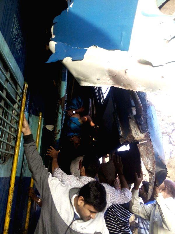 Rescue operation underway at the site where Bengaluru-Erankulam inter-city express derailed between Anekal station (near Bengaluru) and Hosur (in Tamil Nadu) on Feb 13, 2015. Twelve ...