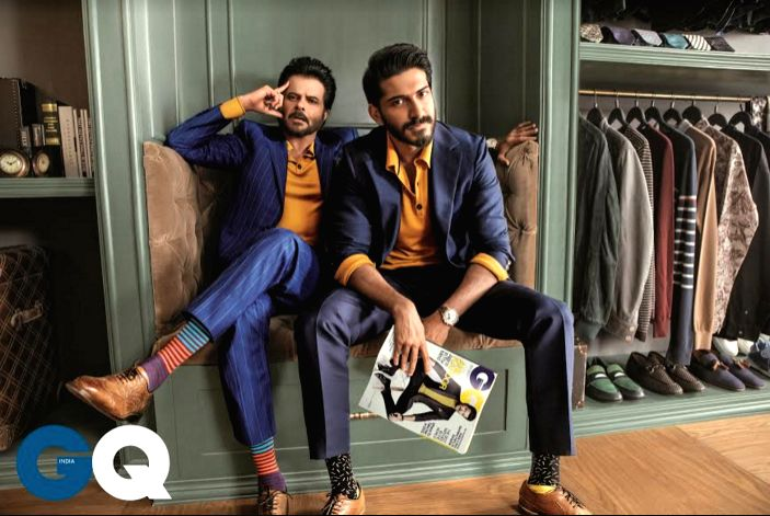 Anil Kapoor with son Harshvardhan. (Photograph credit -- Errikos Andreou for GQ India, June 2017 issue) - Kapoor