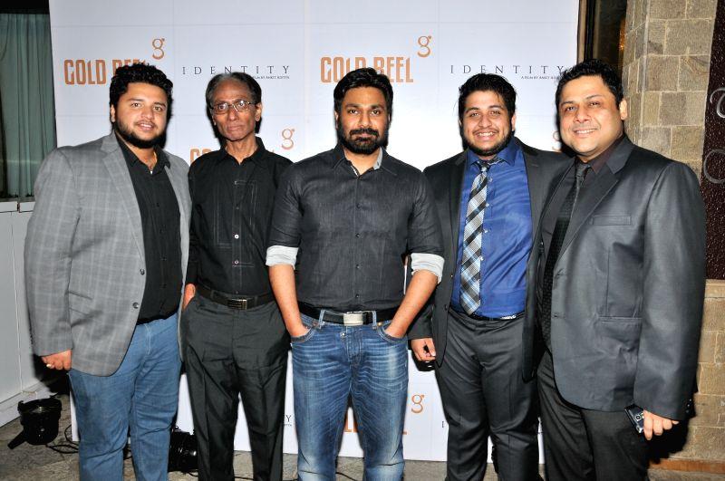 Anirban Aditya, Mithoon,  Ankit Aditya, & Shamaun Ahmed during the Gold Reel Productions launch party in Mumbai Dec 1, 2015