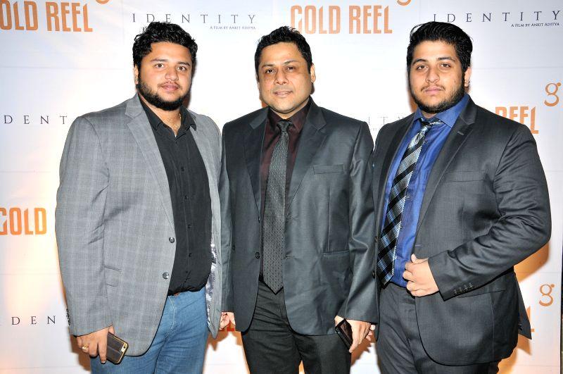 Anirban Aditya, Sahadeb Chowdhury and Ankit Aditya  during the Gold Reel Productions launch party in Mumbai Dec 1, 2015