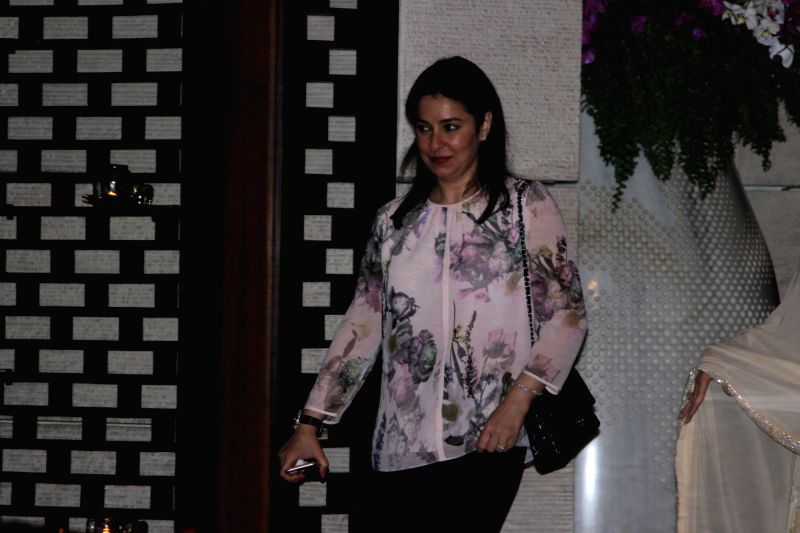 Anjali Tendulkar during the party organised to celebrates Mumbai Indians victory in the Indian Premier League (IPL) 2017 in Mumbai, on May 22, 2017. Mumbai Indians won the IPL title against ...