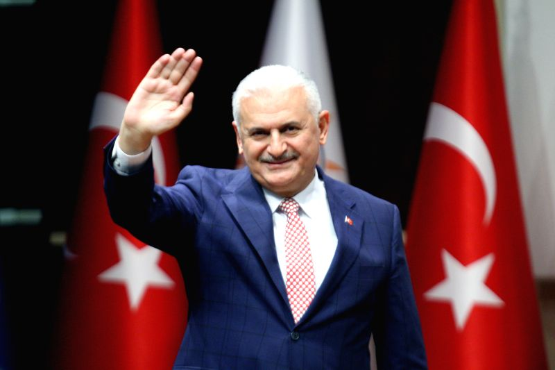 ANKARA, May 19, 2016 - Binali Yildirim gestures at a Justice and Development Party meeting in Ankara, Turkey, May 19, 2016. Turkey's ruling Justice and Development Party (AKP) on Thursday nominated ... - Binali Yildirim