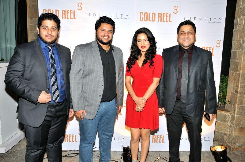 Ankit Aditya, Anirban Aditya, Shweta Khanduri and Sahadeb Chowdhury during the Gold Reel Productions launch party in Mumbai Dec 1, 2015