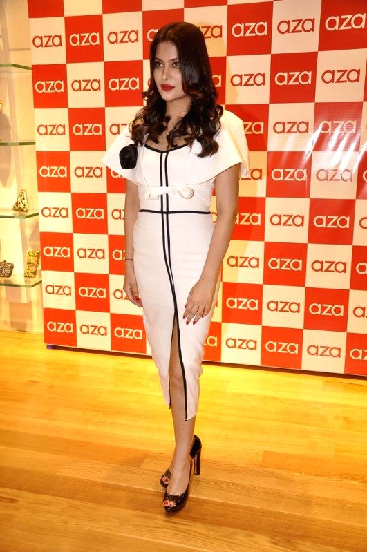 Ankita Shorey during the launch of Aza store in Mumbai, on Aug 28, 2014.
