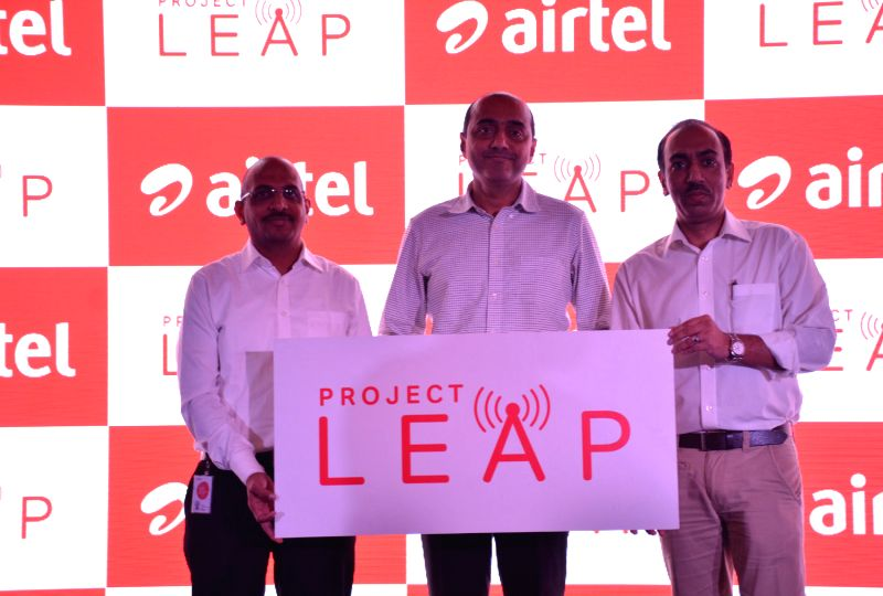 Announcing the launch of a comprehensive network transformation program ? ?Project Leap? - (Left to Right) Abhay Savargaonkar, CTO, Bharti Airtel, Gopal Vittal, MD & CEO, Bharti Airtel (India and ...