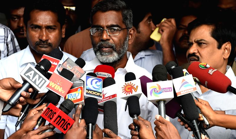Anti-nuclear activist SP Udayakumar addresses press after meeting DMK leader M K Stalin in Chennai on July 30, 2014.