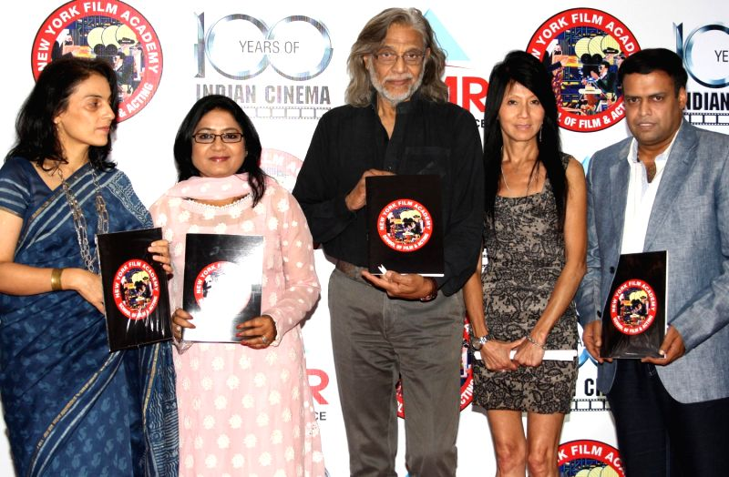 Anuradha Prasad, Muzaffar Ali , Meera Ali , Kitty Koo,Vice President, New York Film Academy and  Kapil Agarwal at the launch of the branch of New York Film Academy at Greater Noida, in New Delhi on...