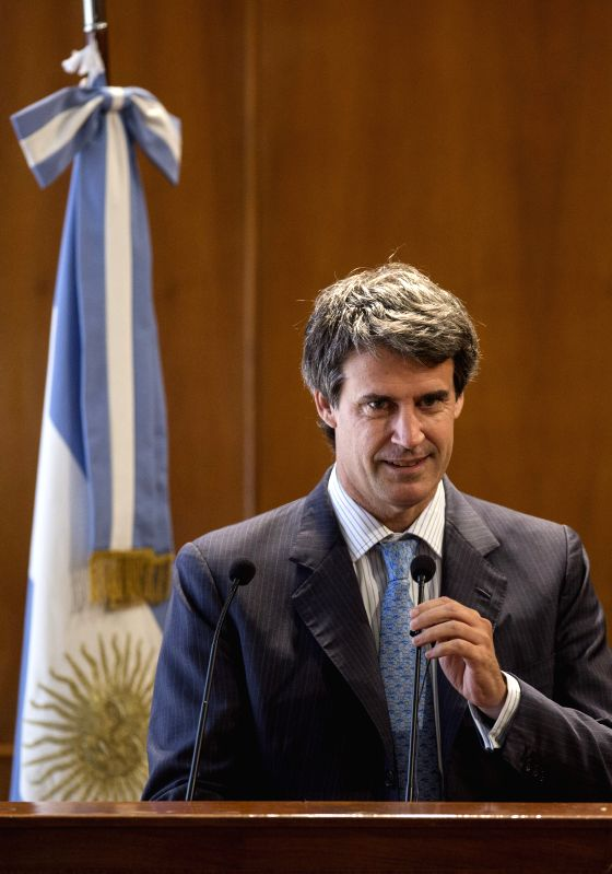 Argentina's Finance Minister Alfonso Prat Gay delivers a speech during the presentation of his economic team in Buenos Aires, Argentina, on Dec. 11, 2015. ... - Alfonso Prat Gay