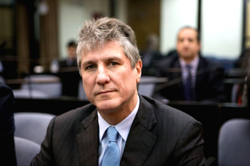 : Argentina's former Vice President Amado Boudou attends a sentence hearing in Buenos Aires, capital of Argentina, on Aug. 7, 2018. Argentina's ...