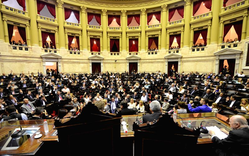 Argentina's Legislative Assembly holds a plenary meeting in Buenos Aires Dec. 4, 2015. The Legislative Assembly on Friday proclaimed Mauricio Macri as ...
