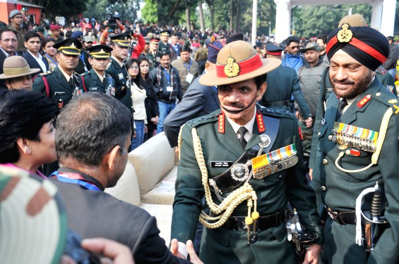 Army chief General Dalbir Singh at the passing-out parade at Indian Military Academy, Dehradun on Dec 12, 2015. - Dalbir Singh