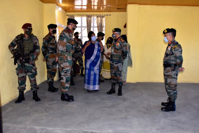 Army chief reviews security situation in NE India, install orphanage home.