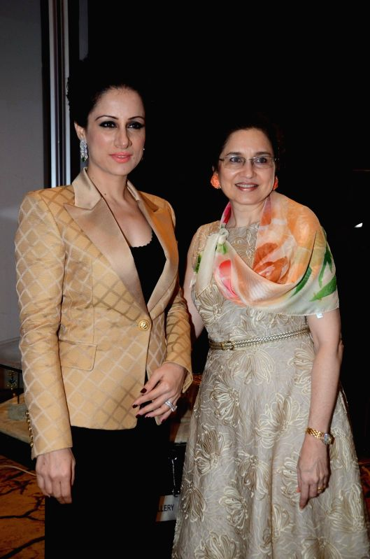 Artist and Muralist Rouble Nagi and Interior designer Pearl Contractor during the Grand Jury Meet for the Retail Jeweller India Awards 2016, in Mumbai on July 26, 2016.