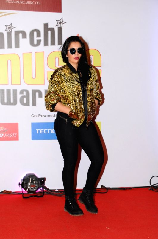 "Artist Jasmine Sandlas at the red carpet of ""10th Mirchi Music Awards"" in Mumbai on Jan 28, 2018. - Jasmine Sandlas"