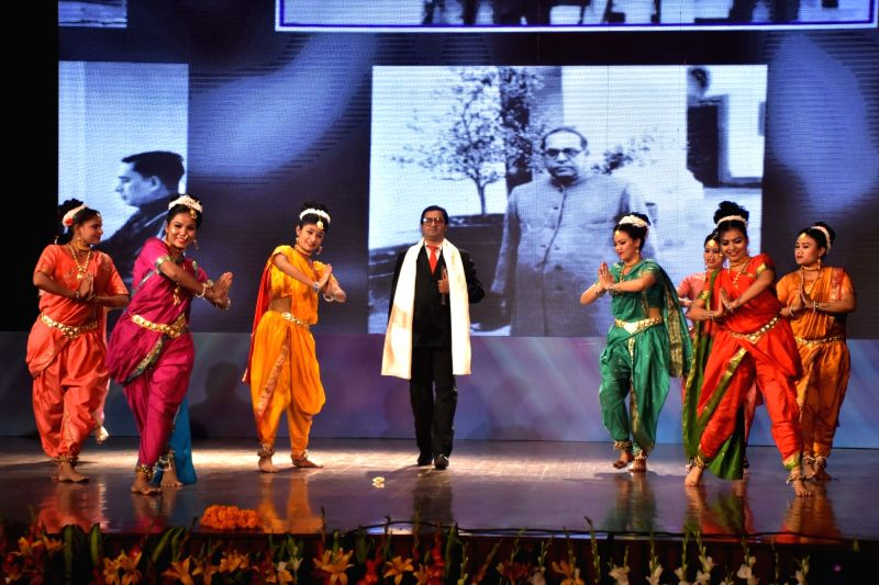 Artistes perform during a programme organised to celebrate the 127th birth anniversary of Dr. B.R. Ambedkar, in Jaipur on April 14, 2018.