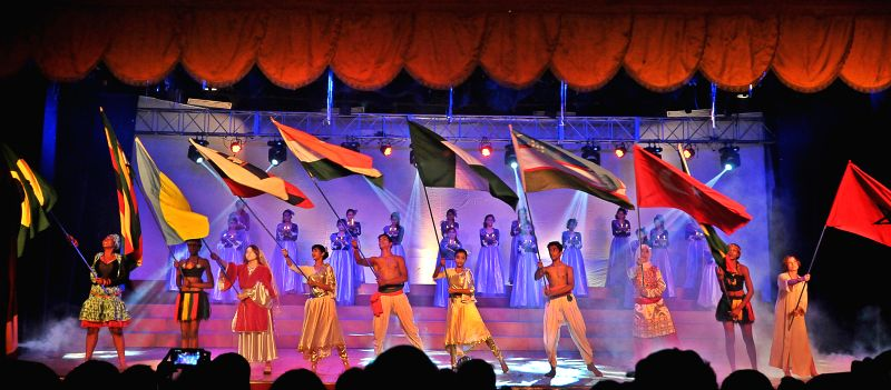 Artists perform at `Brighter Tomorrow` -a programme organised by St.Xaviers High School at Dr Vasantrao Deshpande Hall in Nagpur on Aug 28, 2014.