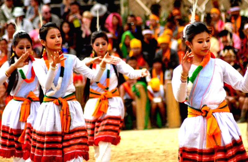 Artists perform during the  Hornbill festival in Kohima on Dec 2, 2015.