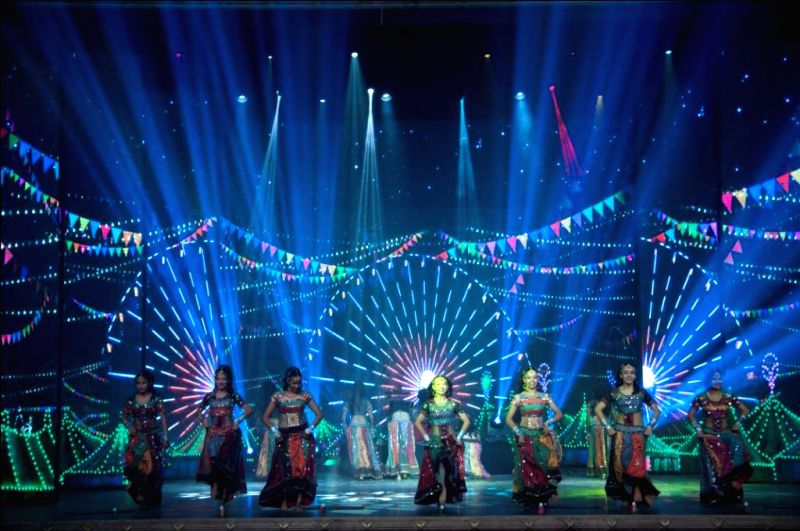 Artists perform during the inauguration of Kingdom of Dreams' second multi-purpose ShowShaa Theatre in Gurgaon.