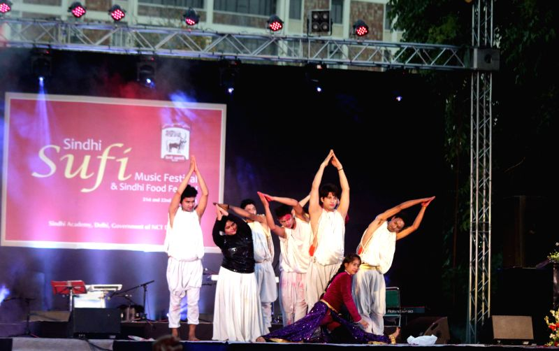 Artists perform during the inauguration of Sufi Food Fest at Chanakyapuri in New Delhi, on March 21, 2015.