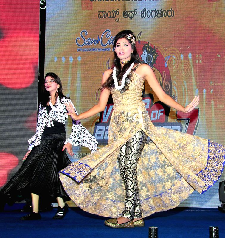 Artists performs during the launch of Voice of Bangalore Season-7 in Bangalore on July 12, 2014.