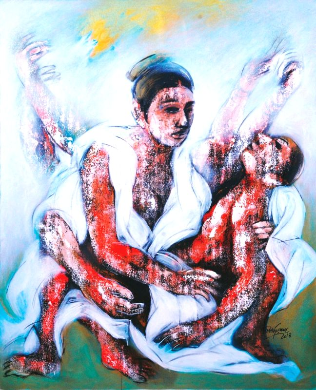 Artwork on the female form by contemporary artist Mrinmoy Barua. - Mrinmoy Barua