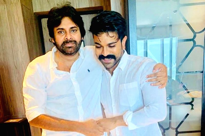 """As Jana Sena President and popular actor Pawan Kalyan turned 48 on Monday, his nephew and actor Ram Charan wished his """"Babai"""", whom he called his """"mentor and guide"""", on his birthday."""