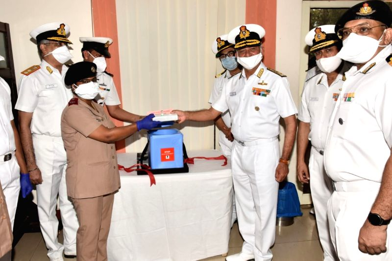 """As many as 40 frontline workers have been vaccinated for coronavirus at a naval hospital in Andhra Pradesh's Visakhapatnam on Saturday.""""Covishield vaccine was given to 40 frontline Covid warriors including doctors, nurses, paramedical staff, health w"""