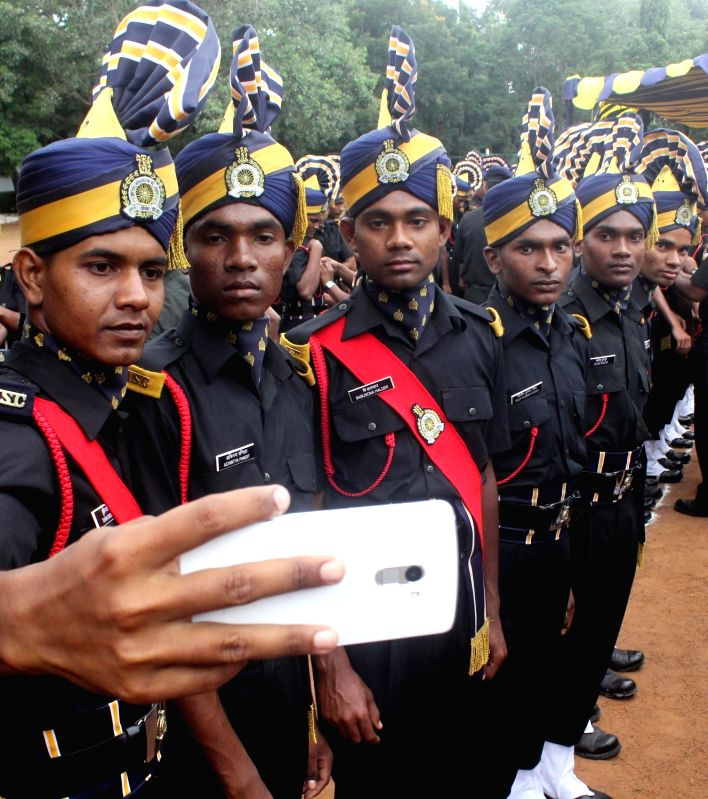ASC recruits during their Passing Out Parade at the ASC Centre and College, in Bengaluru on Aug 3, 2016.