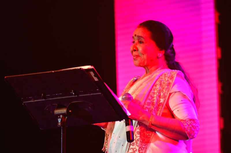 Asha Bhosle performs at her first ever concert in Baroda.